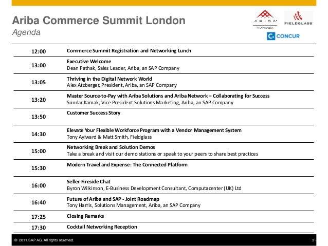 Ariba Commerce Summit London