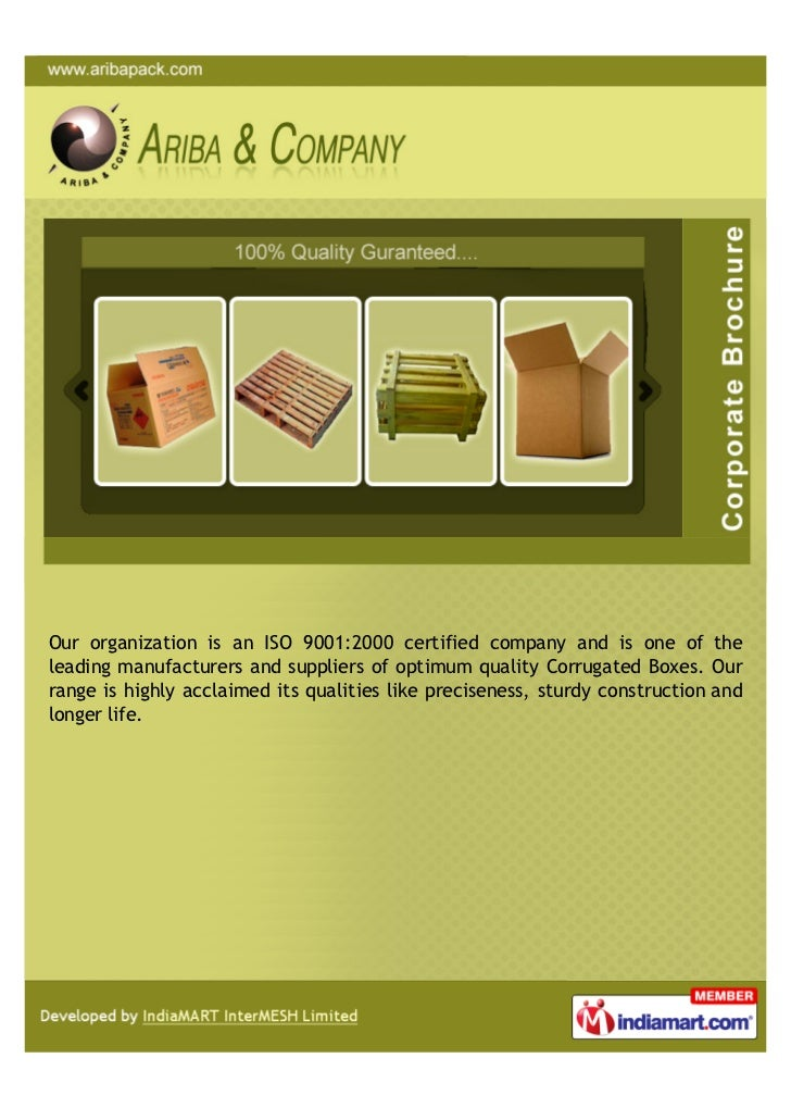 Our organization is an ISO 9001:2000 certified company and is one of theleading manufacturers and suppliers of optimum qua...
