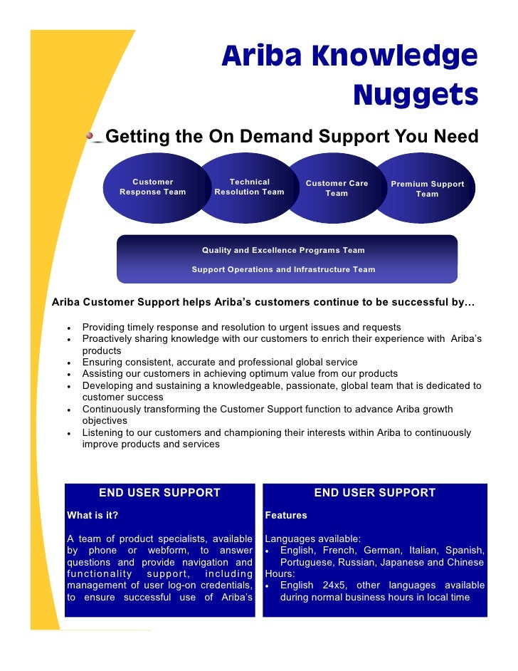 Ariba Knowledge                                              Nuggets           Getting the On Demand Support You Need     ...