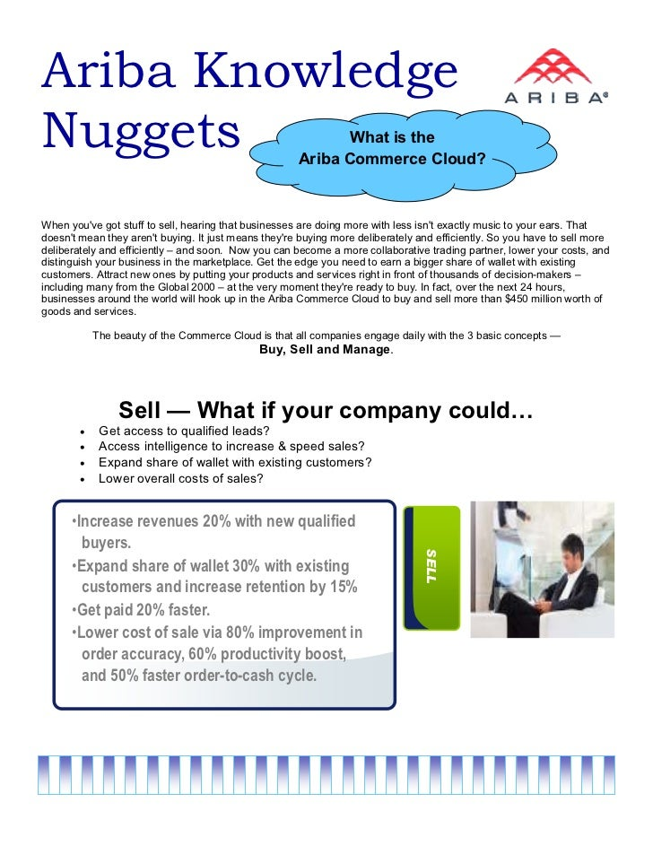 Ariba KnowledgeNuggets                                                     What is the                                    ...