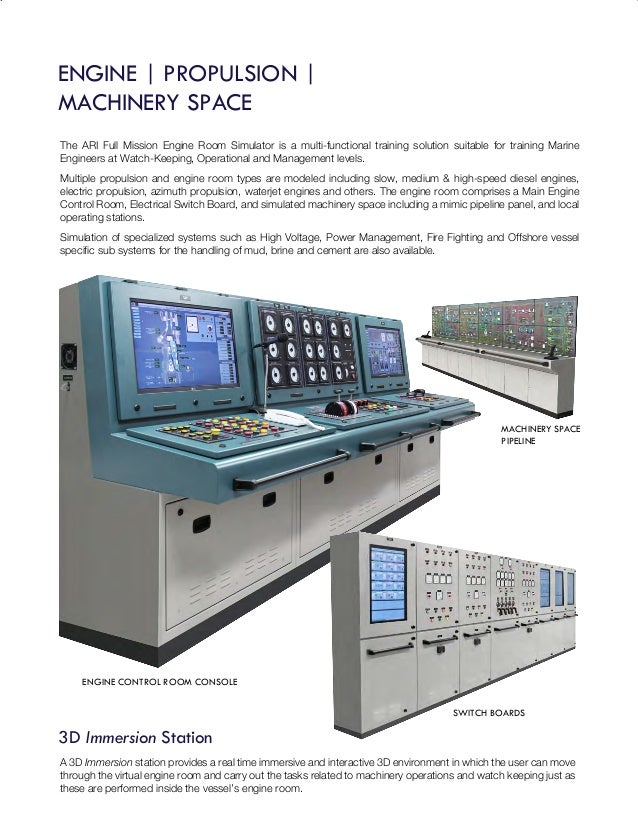 Spaceship Engine Room: ARI Certified Full Mission Marine And Ship Handling Simulators