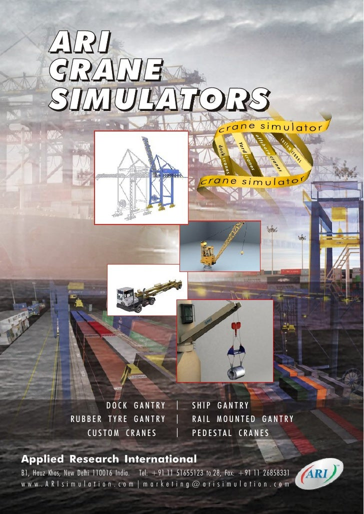 ARI         CRANE         SIMULATORS                                DOCK GANTRY           |     SHIP GANTRY               ...