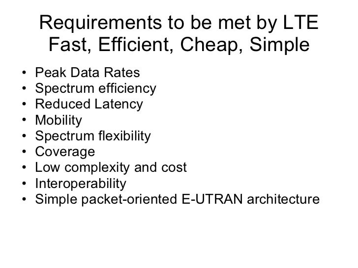 LTE – The Right Solution for Mobile Internet