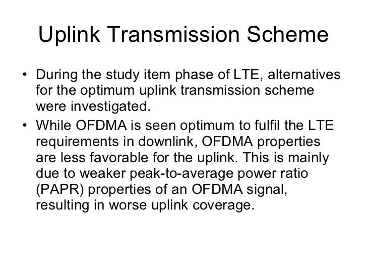 The LTE downlink physical resource based on OFDM