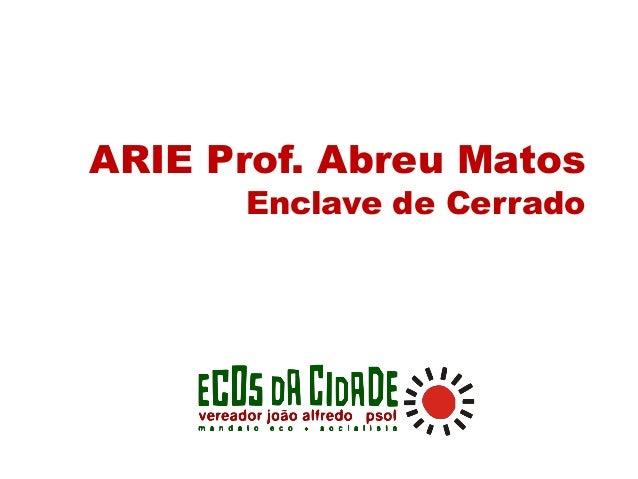 ARIE Prof. Abreu Matos Enclave de Cerrado