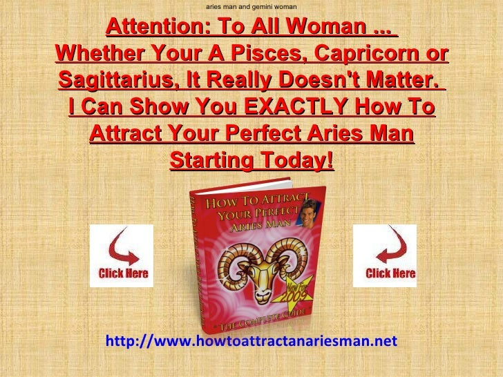 Gemini man attracted to aries woman