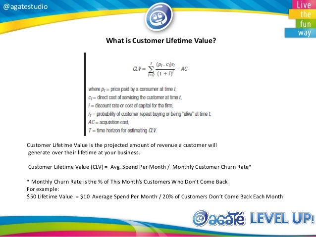 @agatestudio What is Customer Lifetime Value? Customer Lifetime Value is the projected amount of revenue a customer will g...