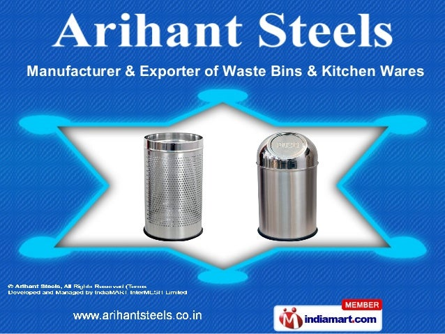 Manufacturer & Exporter of Waste Bins & Kitchen Wares