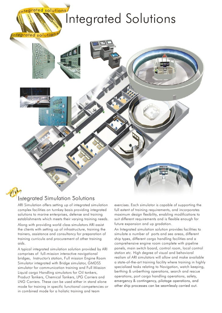 Integrated Solutions     Integrated Simulation Solutions ARI Simulation offers setting up of integrated simulation     exe...