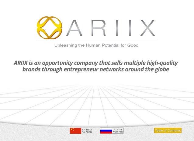 Ariix business presentation youtube.