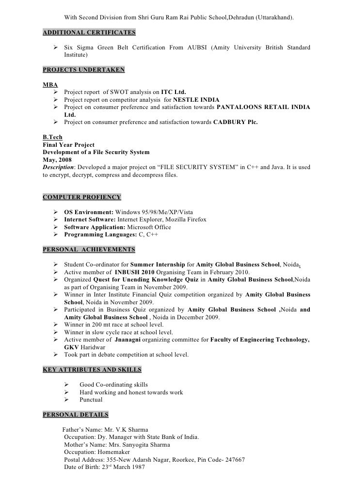 matriculation 2001 02 2 - C Projects For Resume