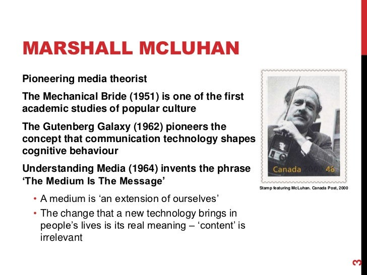 understanding marshall mcluhans theories Understanding mcluhan (in part)  it was probably h m who made that often quoted remark about marshall's theories: i don't pretend to understand them.