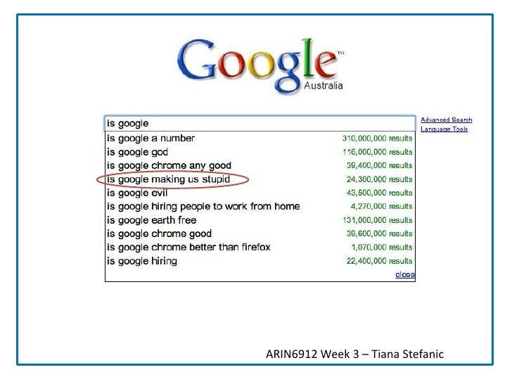 ARIN6912 Week 3 – Tiana Stefanic<br />