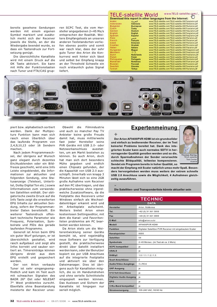 TELE-satellite World                                                                          Download this report in othe...