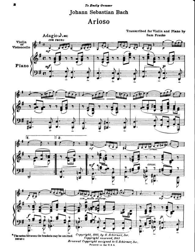 Arioso for piano, violin or cello bwv 1056 imslp09770