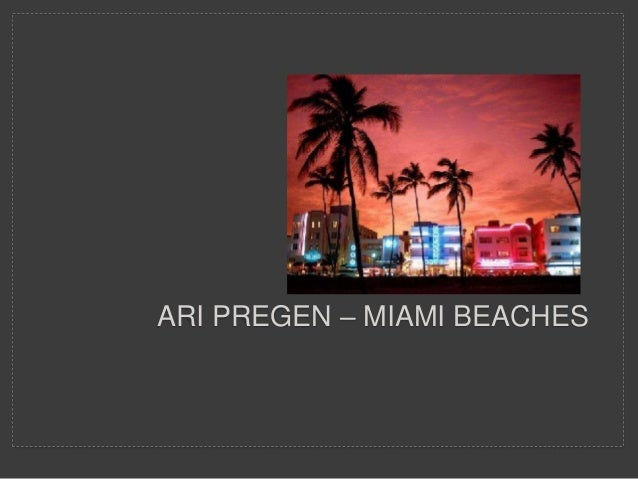 ARI PREGEN – MIAMI BEACHES