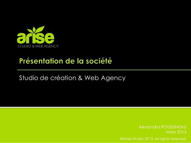 Studio de création & Web Agency                                        Alexandra POUSSINEAU                               ...
