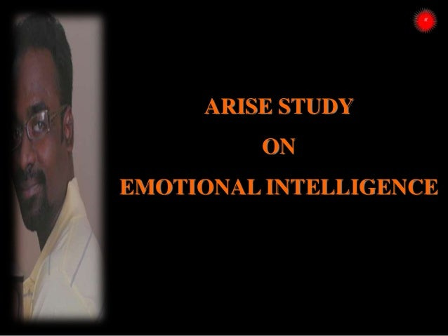 ARISE STUDY ON EMOTIONAL INTELLIGENCE