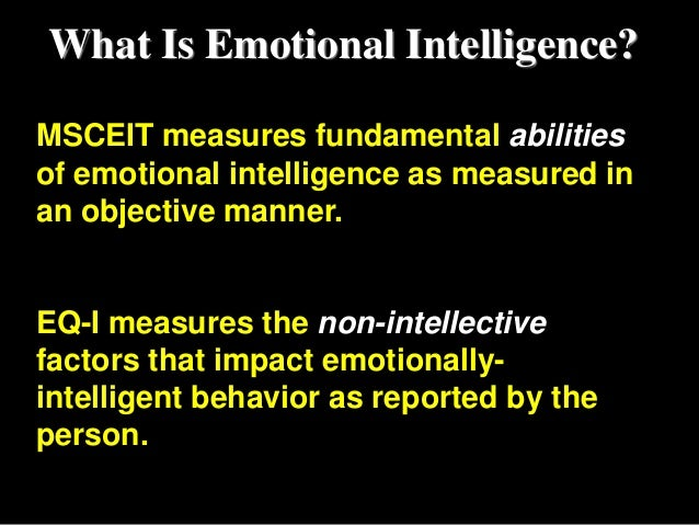 a study of how emotional intelligence Emotional intelligence the study conducted with 180 dutch nurses using the bar-on the bar-on model of emotional-social intelligence (esi) psicothema.