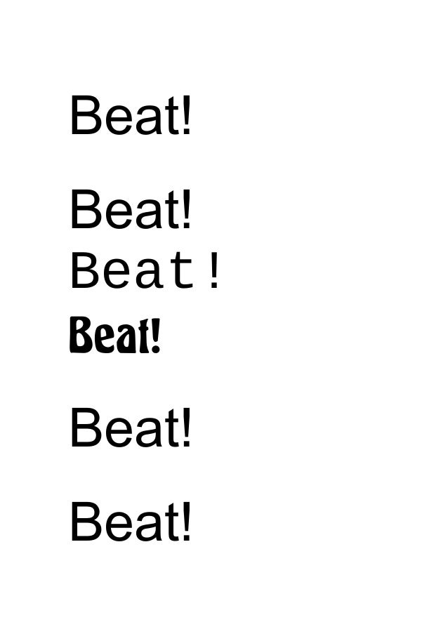 Beat! Beat! Beat! Beat! Beat! Beat!