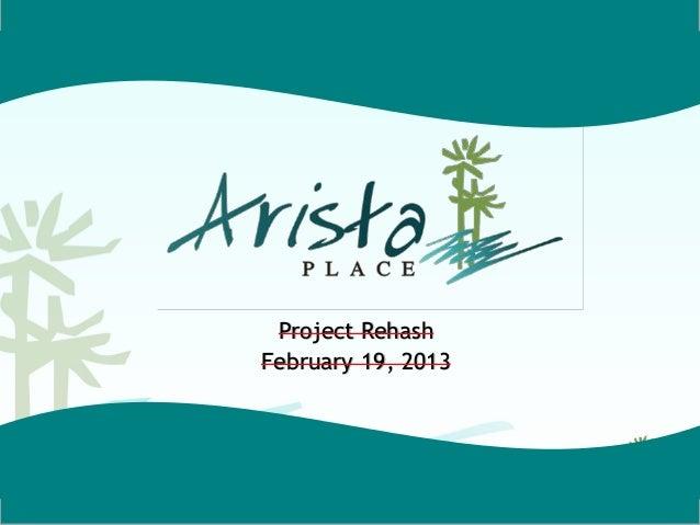 Project RehashFebruary 19, 2013
