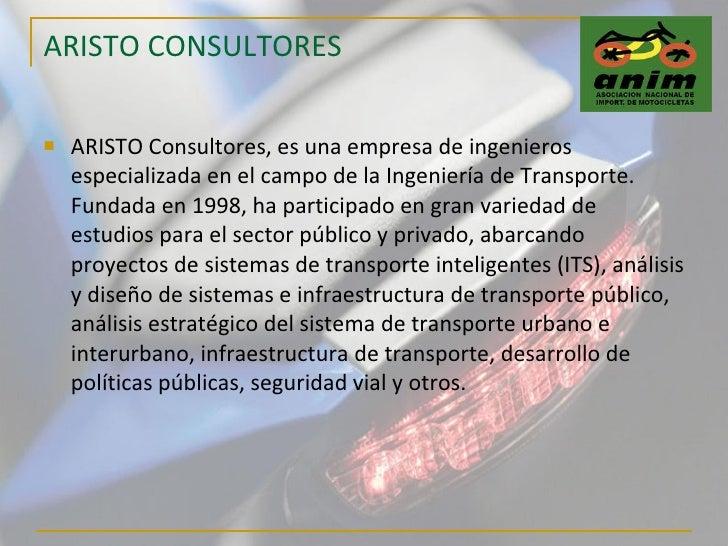 ARISTO CONSULTORES <ul><li>ARISTO Consultores, es una empresa de ingenieros especializada en el campo de la Ingeniería de ...