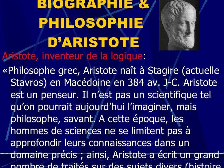 LA BIOGRAPHIE D ARISTOTE PDF