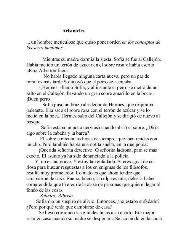 Aristóteles ... un hombre meticuloso que quiso poner orden en los conceptos de los seres humanos... Mientras su madre dorm...