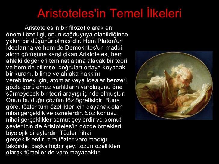 Aristoteliğin Mantığı: Temel İlkeler 90