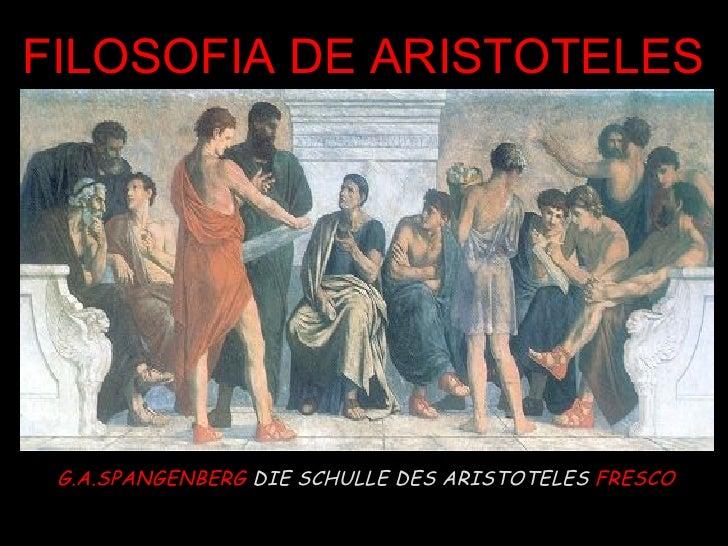 G.A.SPANGENBERG  DIE SCHULLE DES ARISTOTELES   FRESCO FILOSOFIA DE ARISTOTELES