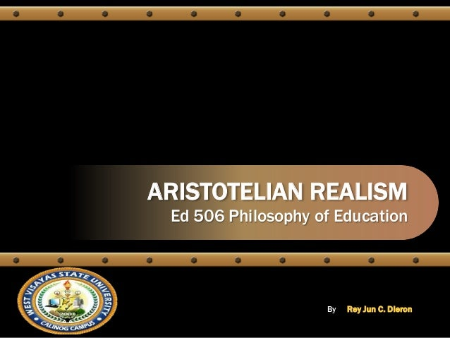 realism in educational philosophy pdf