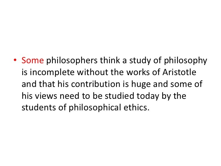 """an analysis of the life of aristotle This point is developed more fully in ethics x5 furthermore, aristotle's analysis allows him to speak of certain pleasures as """"bad aristotle on the perfect life."""