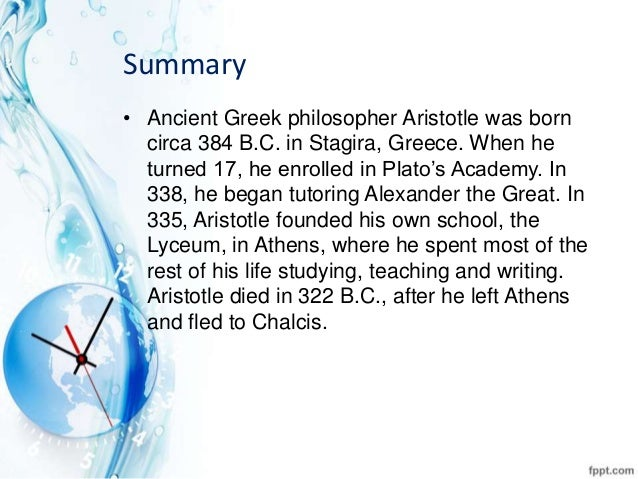 aristotle life summary