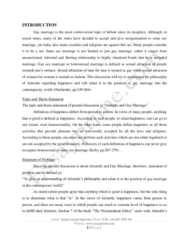 arguments for same sex marriages essay King grammar and composition lesson 75 argumentative essay on gay marriage marriage is the arguments to establish that same sex marriages.
