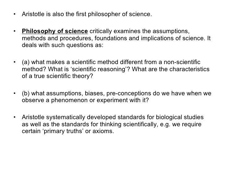 Aristotle Categories Biology