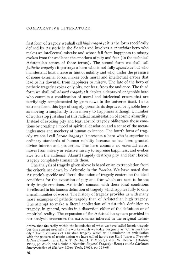Aristotle, frye, and the theory of tragedy, by leon golden