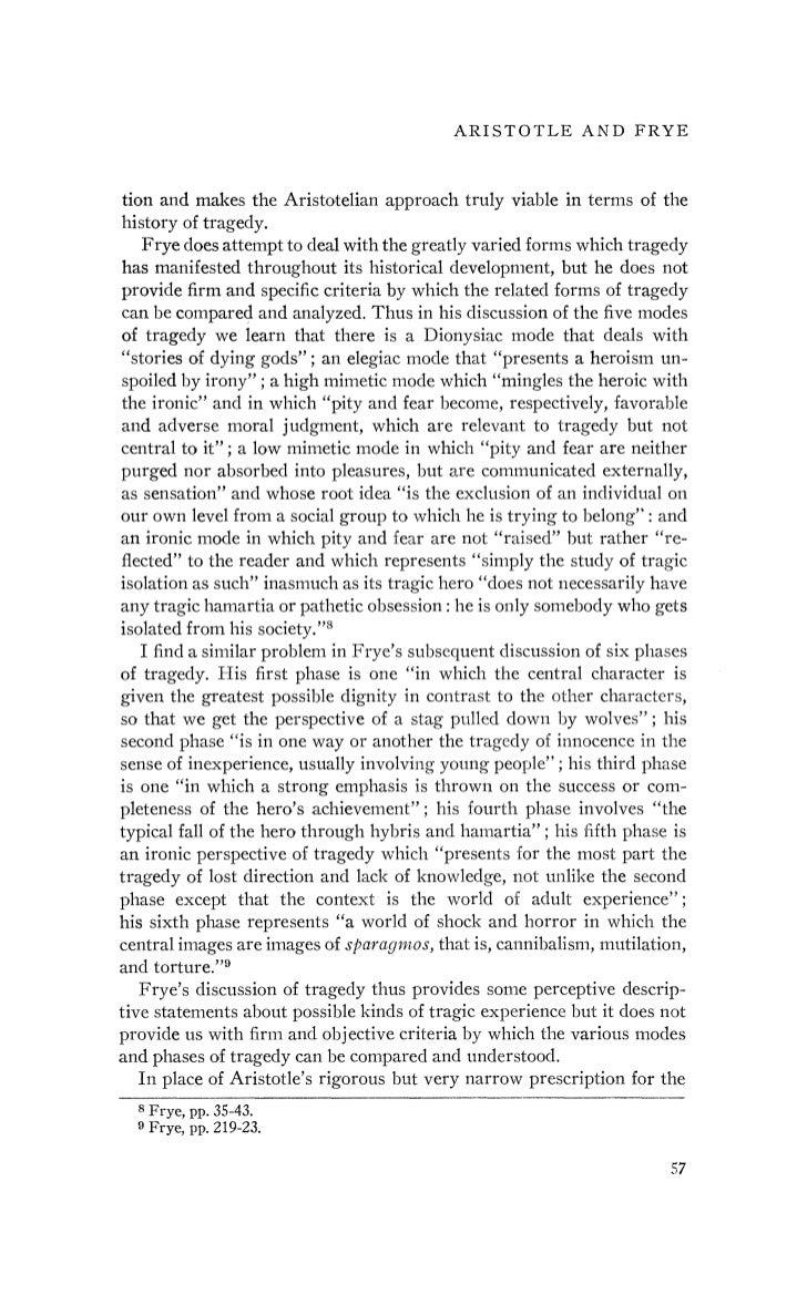 aristotles essay on tragedy
