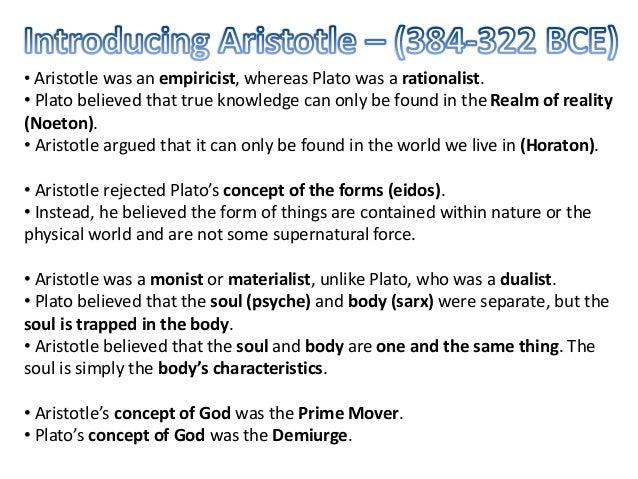 aristotle philosophy summary