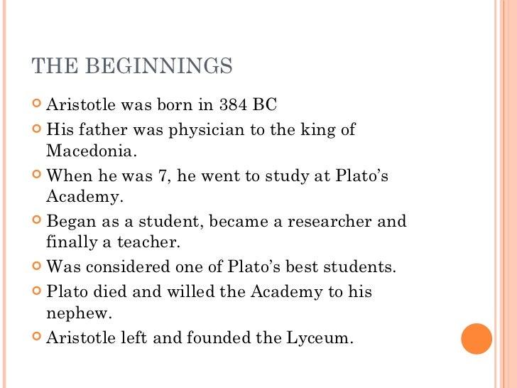 Aristotle life summary