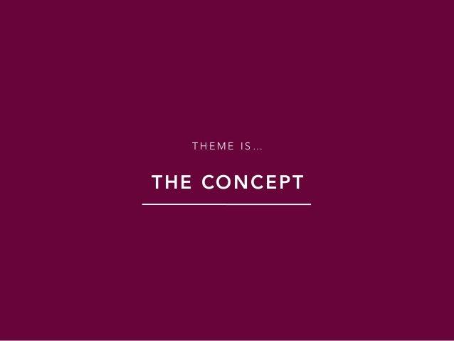 T H E M E I S … THE CONCEPT