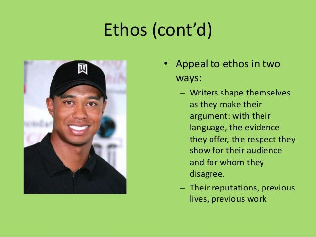 what is ethos appeal