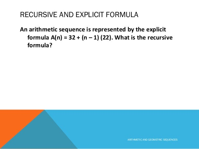 Create an explicit formula