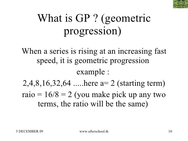 Arithmetic Geometric And Harmonic Progression