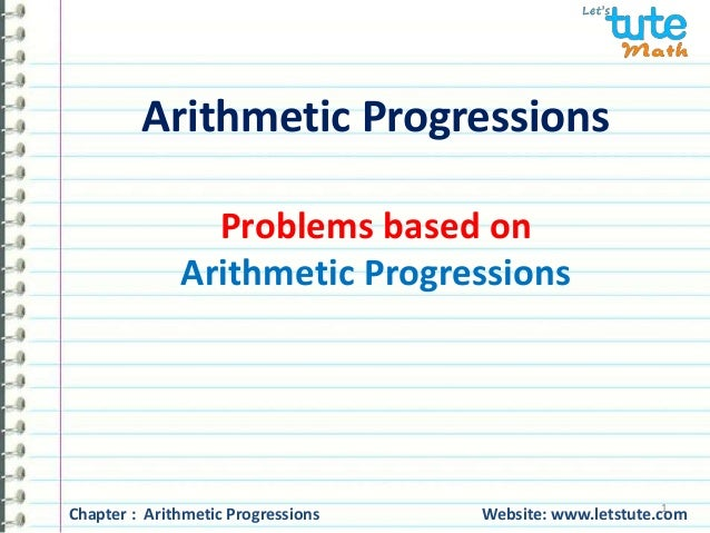 54ee491b3898 Arithmetic progressions - Problem based video part 4 for class 10th maths