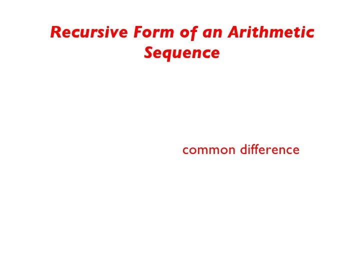 how to find the common difference of an arithmetic sequence