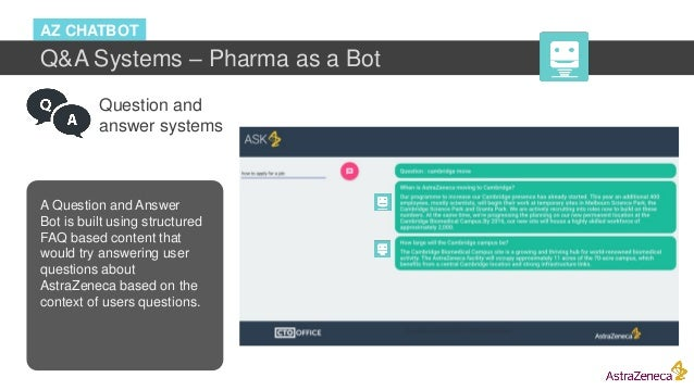 Question and answer systems A Question and Answer Bot is built using structured FAQ based content that would try answering...
