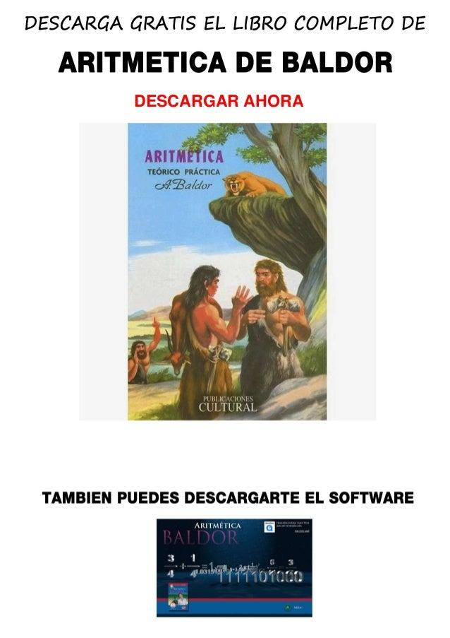 aritmetica de baldor pdf para descargar gratis