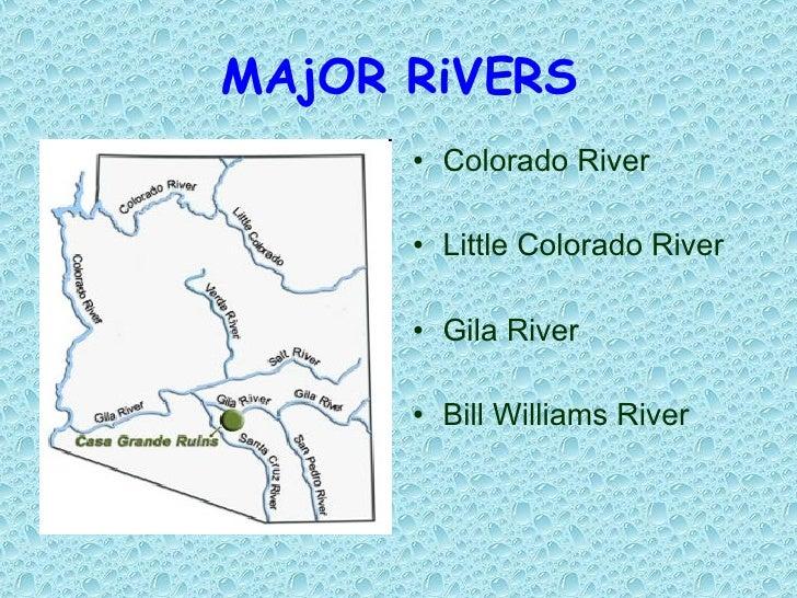 Arizona Powerpoint - 2 major rivers