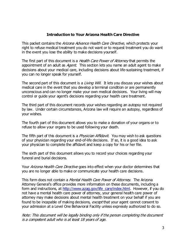 Arizona Advance Directive