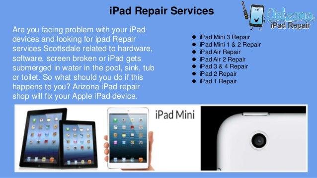 Arizona i pad, iphone, ipod screen, water damage repair in